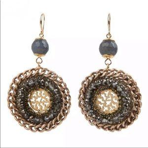 Bead + Chain Earrings